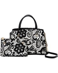 Betsey Johnson - Lady Lace Bow Satchel - Lyst