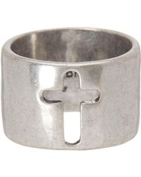 Lucky Brand - Brass Cross Ring - Lyst