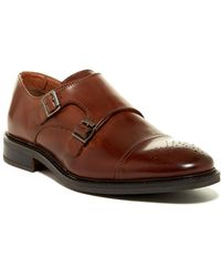 Joseph Abboud - Bishop Cap Toe Double Monk Strap Shoe - Lyst