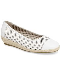 David Tate - Nadine Perforated Espadrille Wedge - Lyst