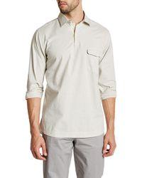 Lands' End - Checked Long Sleeve Regular Fit Shirt - Lyst
