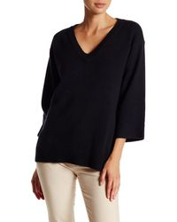 Lands' End - Wool Blend Boxy Pullover Sweater - Lyst