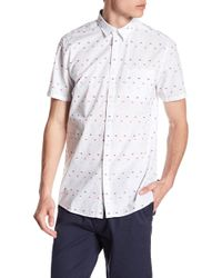 Indigo Star - Derek Short Sleeve Multicolored Clipsot Woven Tailored Fit Shirt - Lyst