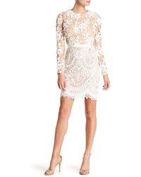 Monique Lhuillier - Calypso Long Sleeve Lace Dress - Lyst