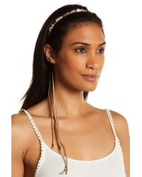 Berry - Stone & Metal Feather Headband - Lyst
