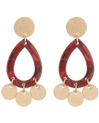 Shashi - Dina Lucite Charm Stud Earrings - Lyst