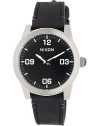 Nixon | Women's Gi Leather Strap Watch, 36mm | Lyst