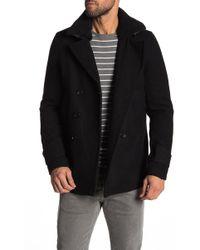 Slate & Stone - Faux Shearling Collar Wool Blend Coat - Lyst