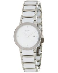 0e49e9422a7 Lyst - Rado Thinline Jubile White Ceramic Ladies Watch R27958702 in ...