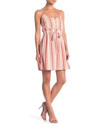 Lush - Stripe Waist Tie Dress - Lyst