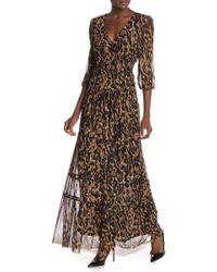 Muche Et Muchette - Kate V-neck Leopard Print Dress - Lyst