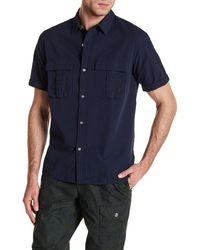 Lands' End - Safari Seersucker Short Sleeve Regular Fit Shirt - Lyst