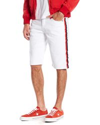 American Stitch - Colorblock Stripe Jean Shorts - Lyst