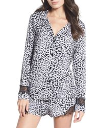 Betsey Johnson - Notch Collar Short Pyjamas - Lyst
