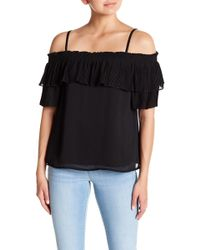 Jessica Simpson - Chris Cold Shoulder Pleated Blouse - Lyst