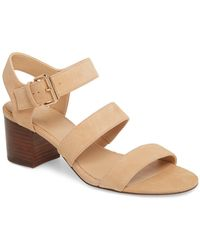 0b95f2d2f1e0 Lyst - Missguided Wave Three Strap Barely There Sandal Nude in Natural
