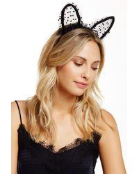 Noir Jewelry - Swiss Dot Mesh Lace Cat Ear Headband - Lyst