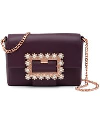 Ted Baker - Peonyy Embellished Buckle Leather Clutch - Lyst