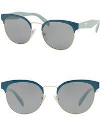 Prada - 54mm Gradient Round Sunglasses - Lyst