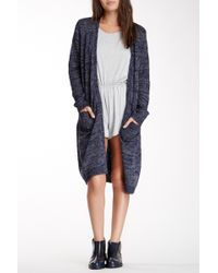 Cecico - Heathered Knit Duster Sweater - Lyst