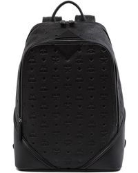 MCM - Ottomar Monogram Leather Backpack - Lyst