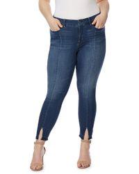 REBEL WILSON X ANGELS - Split Release Hem Skinny Ankle Jeans (plus Size) - Lyst