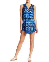 J Valdi - Batik Lace-up T Cover-up Dress - Lyst