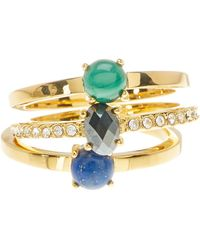 Botkier - Stone Ring Set - Set Of 3 - Lyst