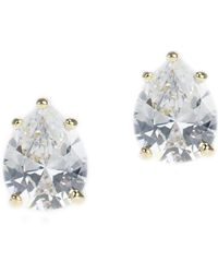 CZ by Kenneth Jay Lane - Pear Cz Stud Earrings - Lyst