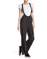 Dress Forum - Stripe Suspender Jumpsuit - Lyst