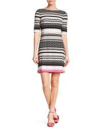 Eliza J - Striped Elbow Sleeve Shift Dress - Lyst