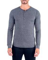 Unsimply Stitched - Super Soft Long Sleeve Lounge Henley - Lyst