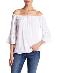 Cable & Gauge - Off-the-shoulder Bell Sleeve Blouse (petite) - Lyst