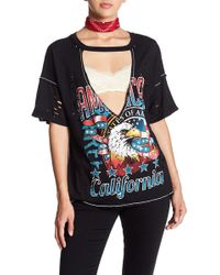 Oober Swank - Eagle Graphic Tee - Lyst