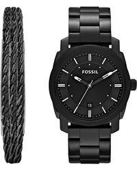 Fossil - Machine Bracelet Watch & Jewelry Set, 42mm - Lyst