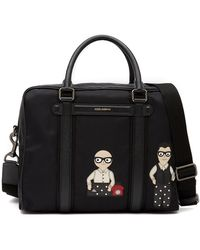 Dolce & Gabbana - Patch Nylon Messenger Bag - Lyst
