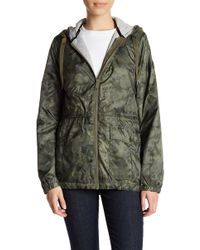 BCBGeneration - Front Zip Hooded Anorak - Lyst