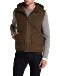 Vince - Reversible Shearling Hooded Vest - Lyst