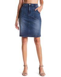 Level 99 - Kristene High Waist Denim Skirt - Lyst