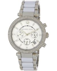 MICHAEL Michael Kors - Women's Parker Crystal Chronograph Watch - Lyst