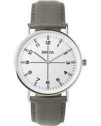 Breda - Men's Belmont Slim Leather Strap Watch, 40mm - Lyst