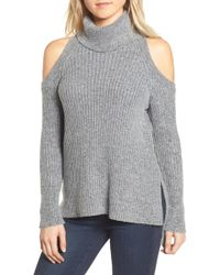 Cupcakes And Cashmere - Rodell Cold Shoulder Sweater - Lyst