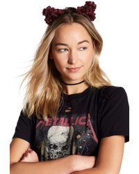 Noir Jewelry - Floral Cat Ear Headband - Lyst