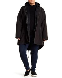 French Connection - Fleece Bib Hooded Parka (plus Size) - Lyst
