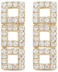 Dana Rebecca - 14k Yellow Gold Diamond Accented Allison Joy 3 Square Bar Earrings - 0.26 Ctw - Lyst