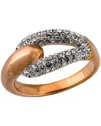 Swarovski - Rose Gold Plated Crystal Ring - Lyst