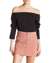 Romeo and Juliet Couture - Off-the-shoulder Bodysuit - Lyst