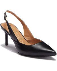 Calvin Klein - Giona Nappa Leather Slingback Pump - Lyst