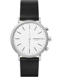 Skagen - Women's Hald Hybrid Smart Leather Strap Watch, 40mm - Lyst