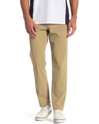 Perry Ellis - Slim Fit Solid Tech Pants - Lyst